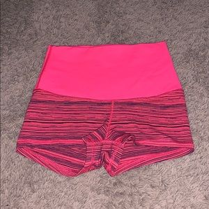 Lululemon Athletica coral striped booty shorts 2
